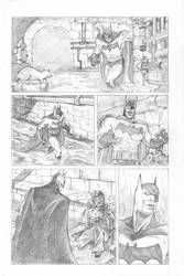 Batman Vs Killer croc sample page pencils P1