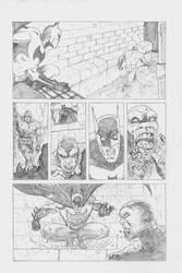 Batman Vs Killer croc sample page pencils Pg2
