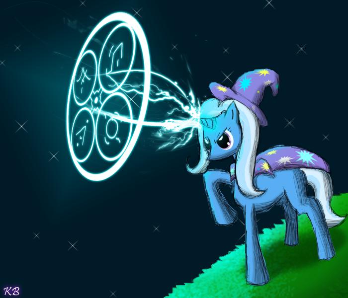 trixie casts a spell by ainoninom