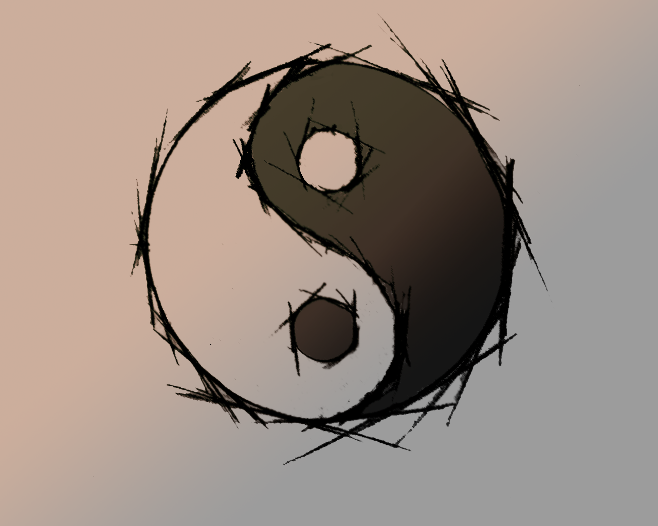 Ying yang wallpaper by woochoo on deviantart - Yin and yang wallpaper ...