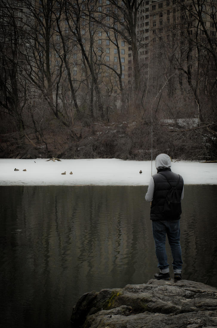 Fishing in Central Park by W-L-Designs