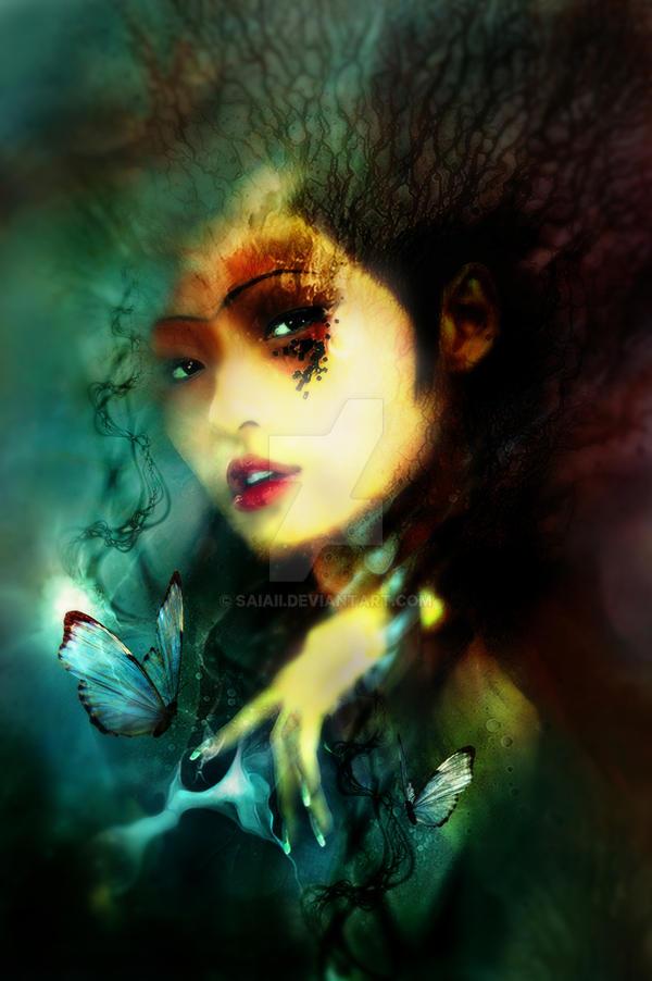 night butterflies by saiaii