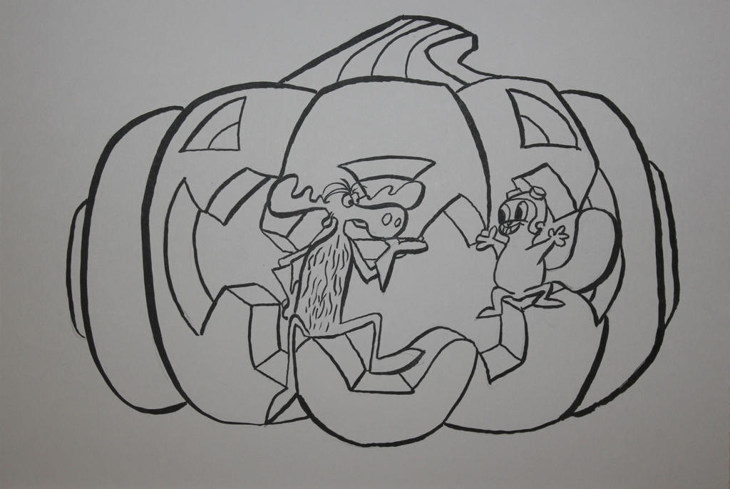 Happy Halloween From Rocky And Bullwinkle - Photo  by TheSkaldofNvrwinter