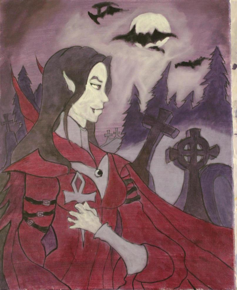 Victoria The Vampire - Stage Four - Underpainting by TheSkaldofNvrwinter