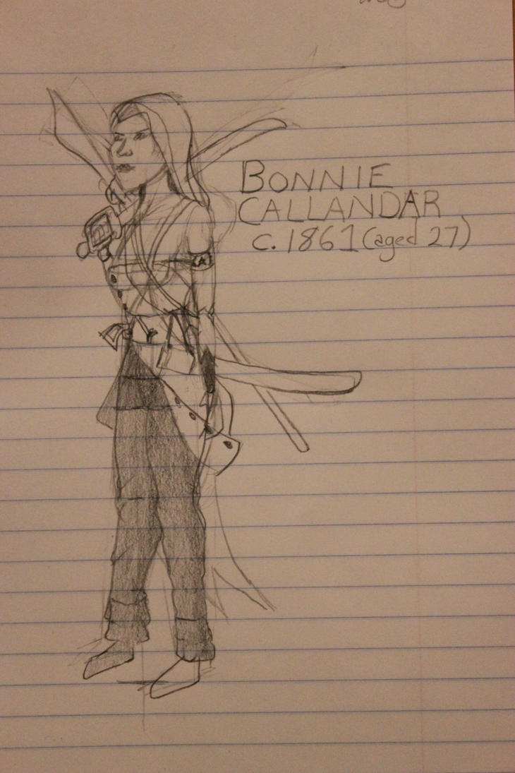 Bonnie Callandar prototype drawing 2b by TheSkaldofNvrwinter
