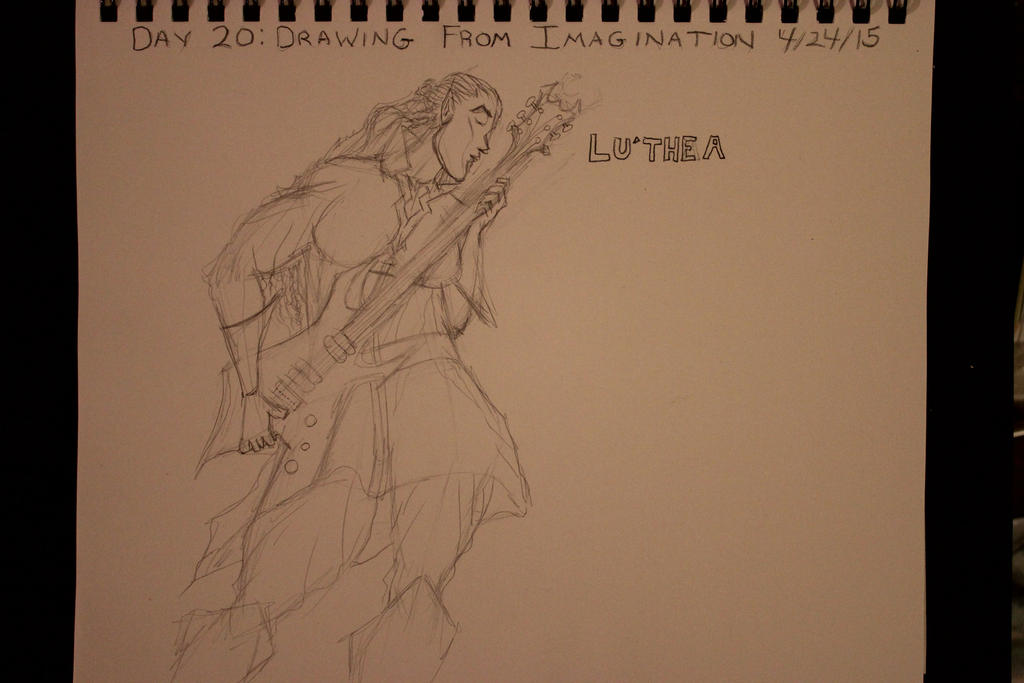 Lu'thea as Guitar Hero by TheSkaldofNvrwinter