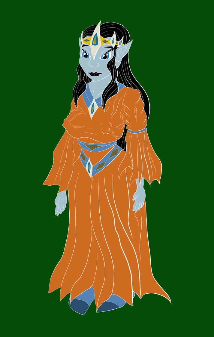 Elf Princess Alt Design Gown 1 - Flat Colors