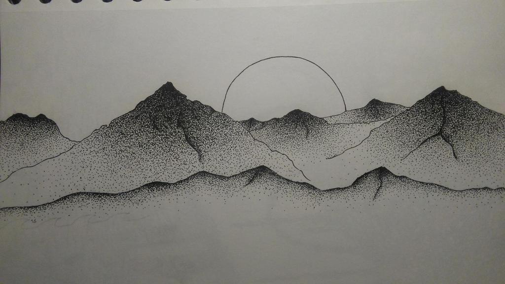 mountains by Asshia