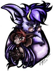 Jax the Bat and Rotekatze by sageEmerald