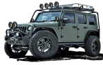 Military Jeep png stock