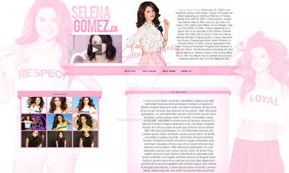 Selena Gomez Fansite Design by Sweety-Muffin