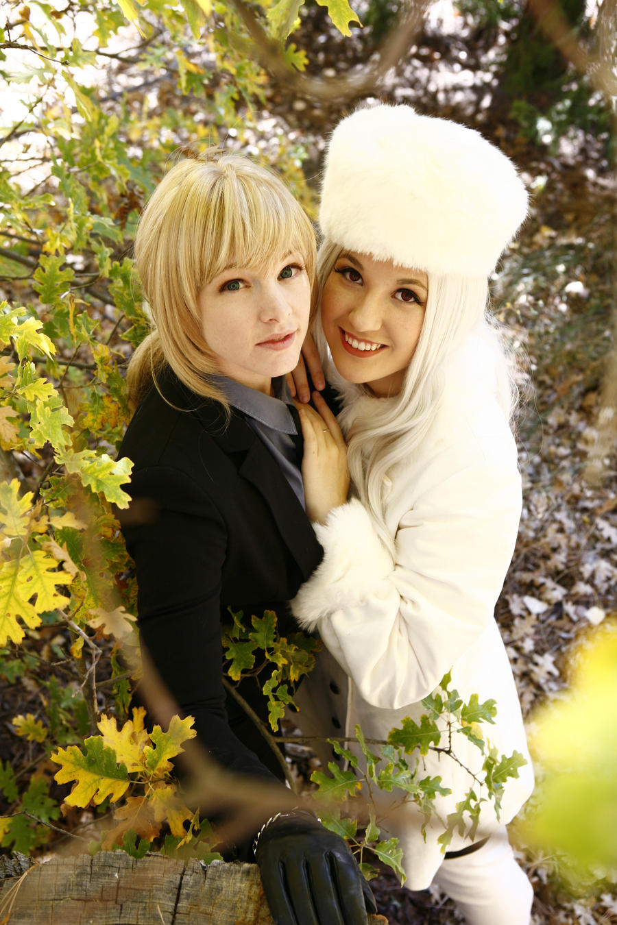 Saber and Iris: Before the Spring by FoxGlovesCosplay