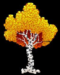 A totally normal birch tree by NightnDaysDoodels