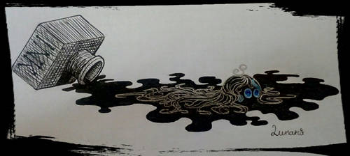 Ink blob