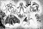 Monster doodle complication by Lunaria--Annua