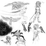 Raven master sketches by Lunaria--Annua
