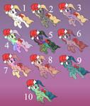 Pony adoptables (CLOSED) 4/10 Left