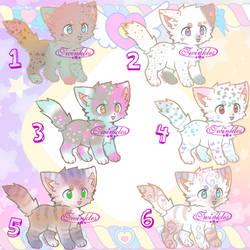 Kitten Adopts Batch 25 pts ea (OPEN)5/6 left