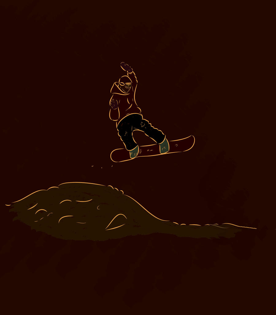 snowboarding by manar1