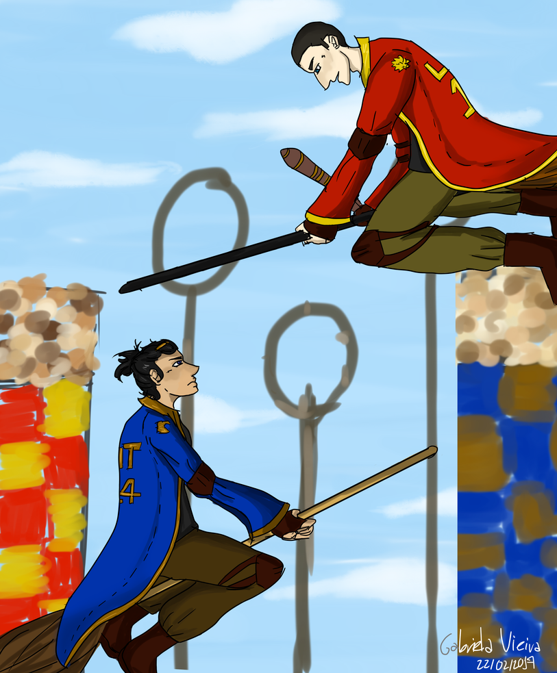 Hogwarts AU - Quidditch by GabsTheChangeling