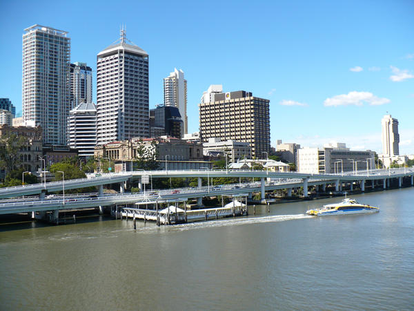 Brisbane City + River 1 by chamara-stock