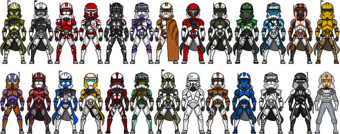 Clone Commanders of the ROGUE