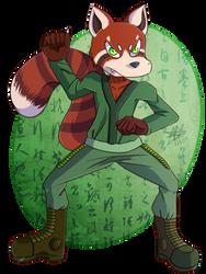 .:Comm: Yazhu the Red Panda by Laurathedog