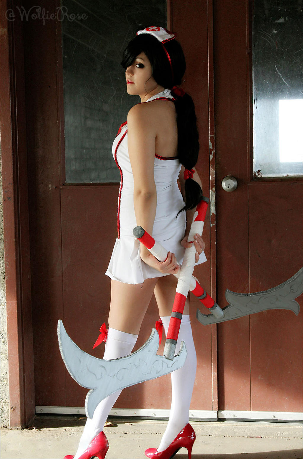 Nurse Akali Cosplay by W0lfieRose