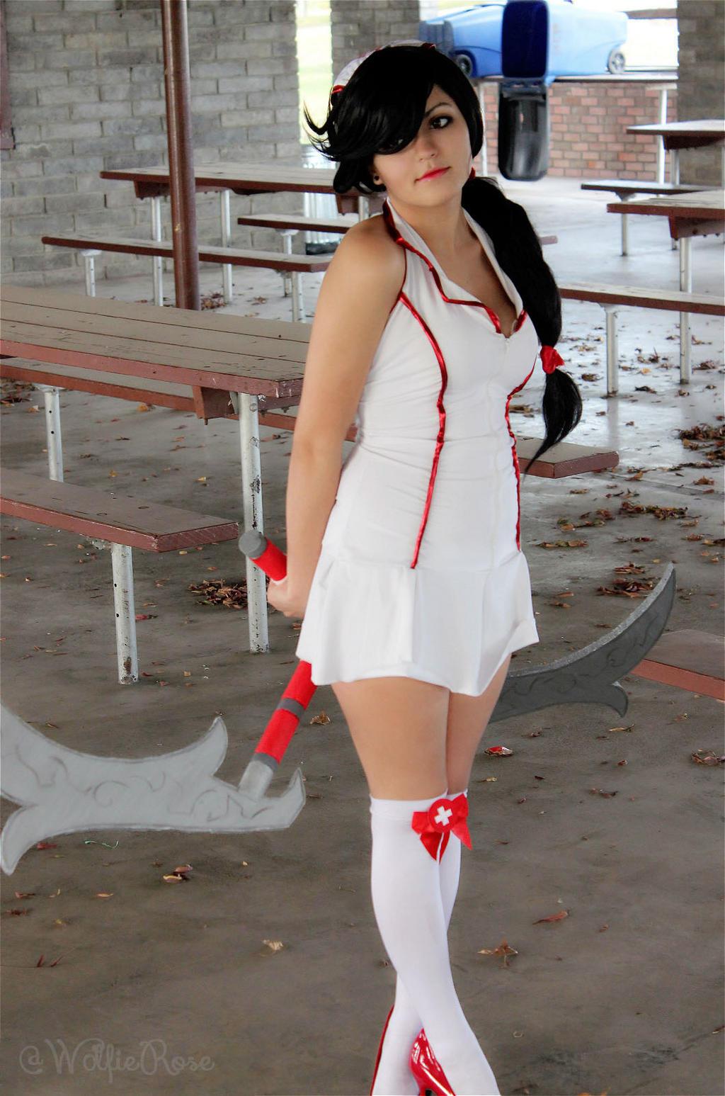 Nurse Akali by W0lfieRose