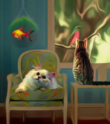 Kitten's dream! by vafiehya