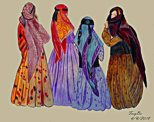 Women's clothing in the village by vafiehya