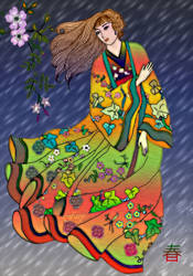 Spring rain by vafiehya