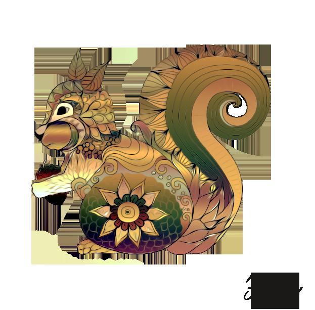 A wonderful squirrel! by vafiehya