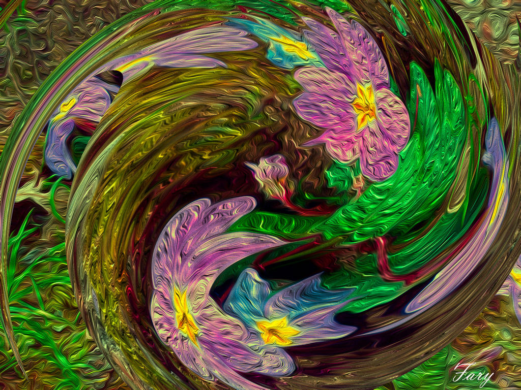 A flower branch for my dear friend by vafiehya