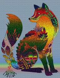 A lovely colorful Fox ! by vafiehya