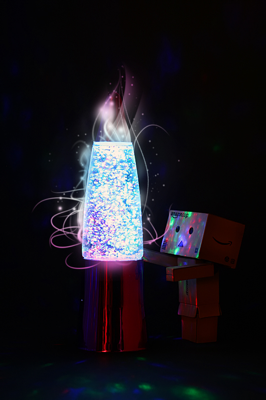 Danbo and his Lava lamp by DesignJunkyGrafix