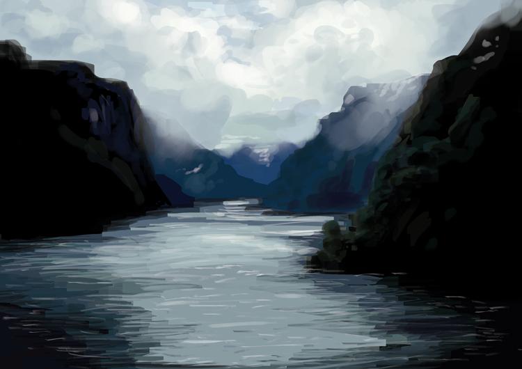 landscape study 1 by Lisa-Gane