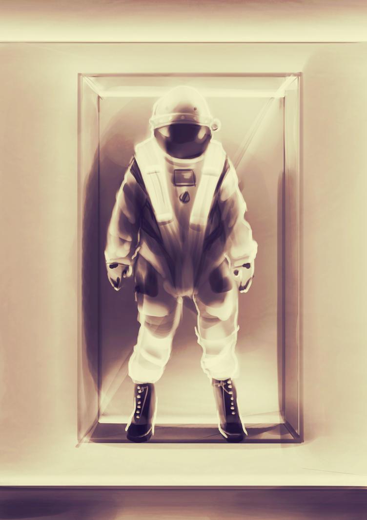 Space Suit Lobby Display by Lisa-Gane