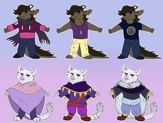 Fursona alt outfits by Artyskeptic