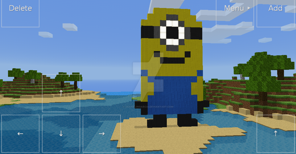 how to build a moving minion on minecraft
