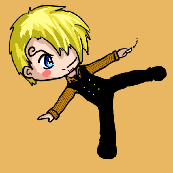 Sanji and his Kick by IcyPanther1 on DeviantArt