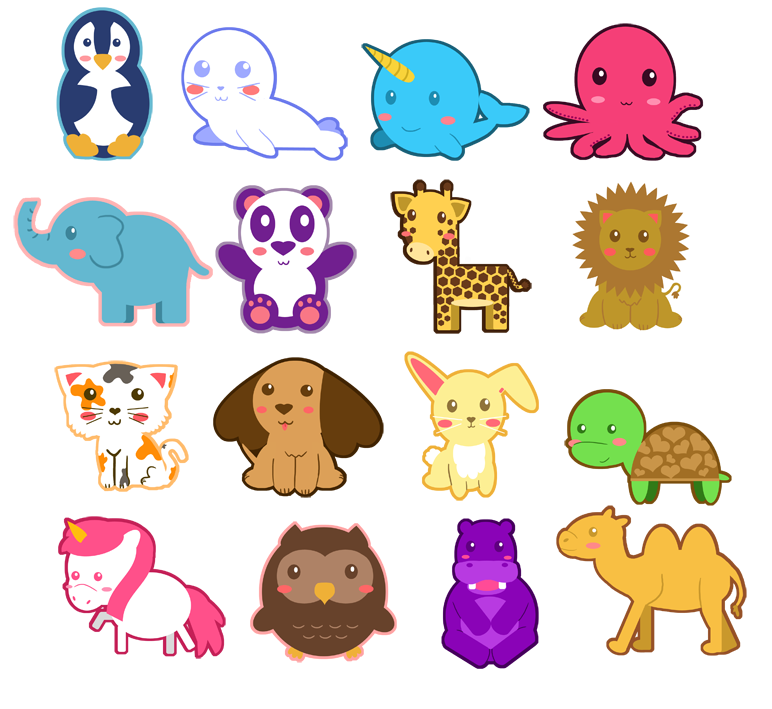 Animal Chibis by IcyPanther1 on DeviantArt