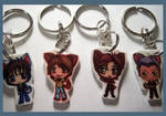 Wolf's Rain Charm Keychains by IcyPanther1