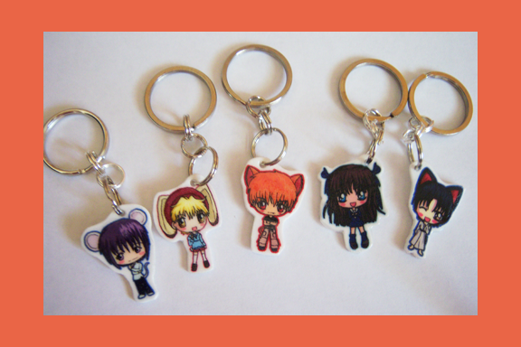 Fruits Basket Chibi Charm Keychains By Icypanther1 On