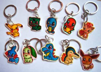Pokemon Chibi Charm Keychains by IcyPanther1
