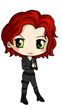 black widow chibi by icypanther1 on deviantart