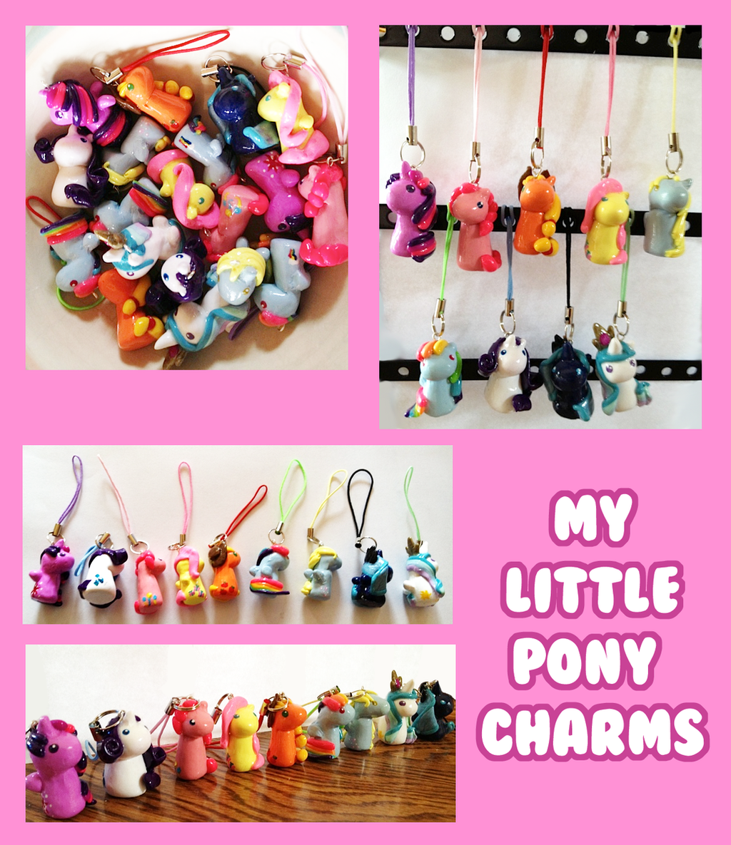 Charms charms and more charms by ideationox on deviantart my little pony miniature clay charms by icypanther1 mozeypictures Images