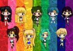 Sailor Scout Chibis