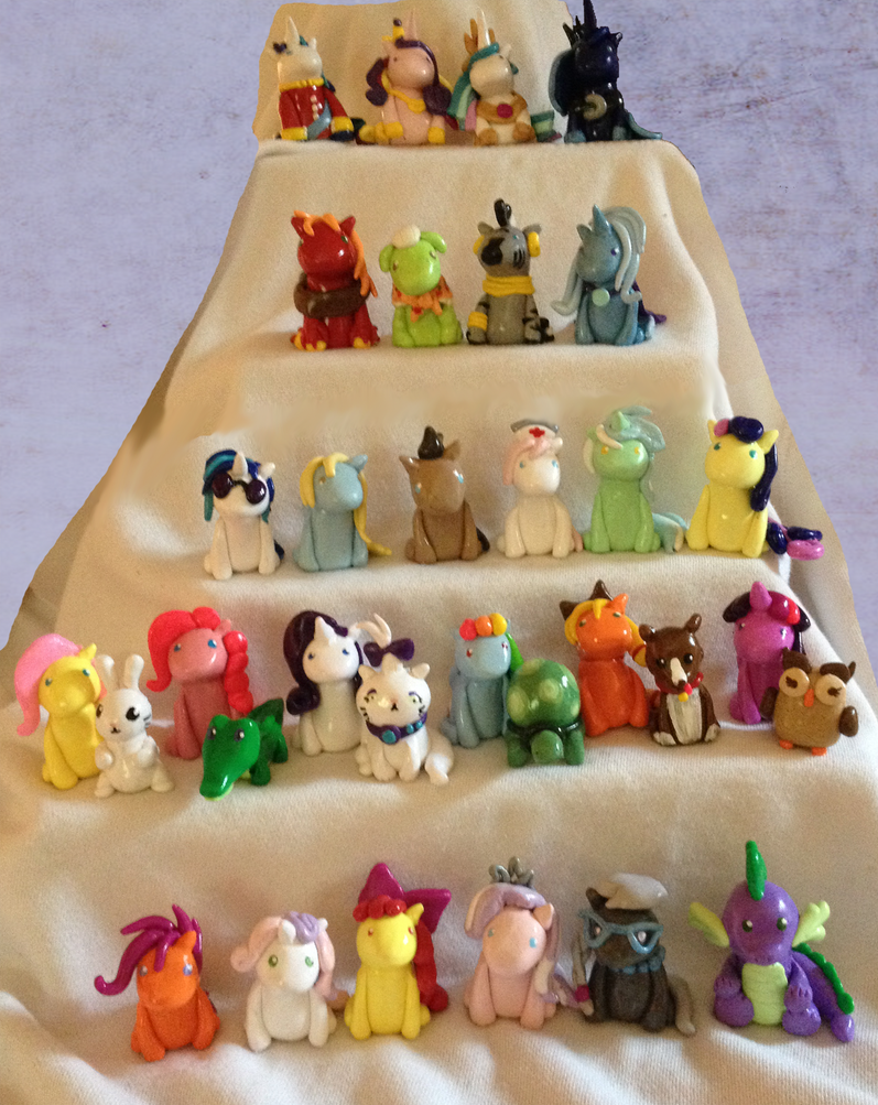 Mountain of My Little Pony Miniatures by IcyPanther1