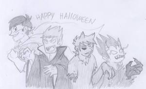 Halloween eddsworld by Ao-13-14